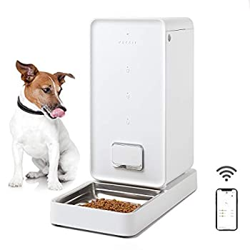 Image of PETKIT Smart Feed Automatic Cat Feeder, Wi-Fi Enabled Pet Feeder, App for iPhone and Android, Work with Alexa, Portion Control, Distribution Alarms, Double Fresh Lock System Auto Pet Food Dispenser Pet Supplies