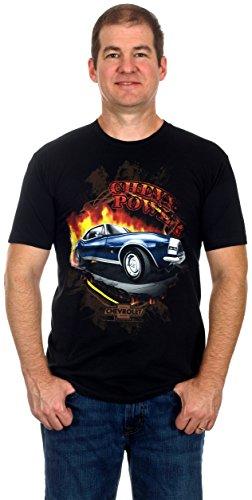 Camaro Chevy Power Men's Short Sleeve T-Shirt (Medium, Black)