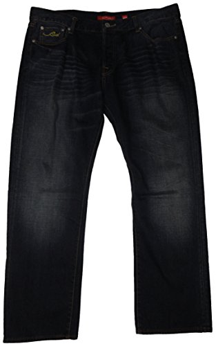 Ed Hardy Men's Mcqueen Tiger Boxing Jeans, Size 40X32, Blue Denim