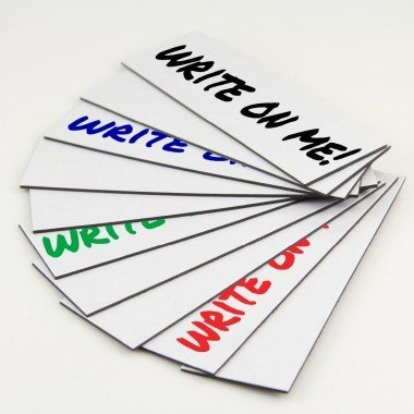 10 Dry Erase Magnetic Shelf Label Magnets 1