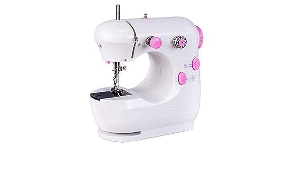 Máquina de coser pequeña mini-brecha eléctrica pequeña línea doble ...
