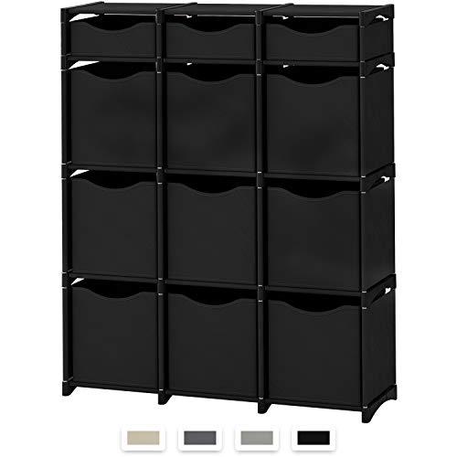 Neaterize 12 Cube Organizer | Set of Storage Cubes Included | DIY Cubby Organizer Bins | Cube Shelves Ladder Storage Unit Shelf | Closet Organizer for Bedroom, Playroom, Livingroom, Office - Shelf Units Bedroom