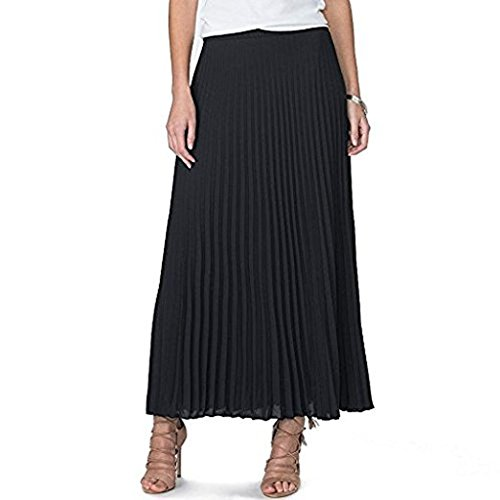 144246298 Galleon - Chaps Ralph Lauren Women's Pleated Maxi Skirt- Small