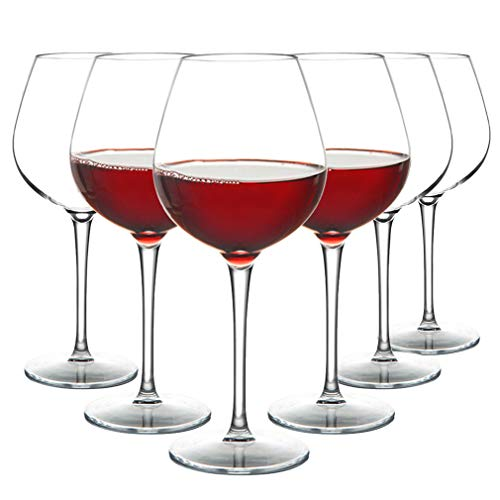MICHLEY Unbreakable Red Wine Glasses 17 oz, Tritan Plastic Reusable Stemware for Indoor and Outdoor Use, Set of 6