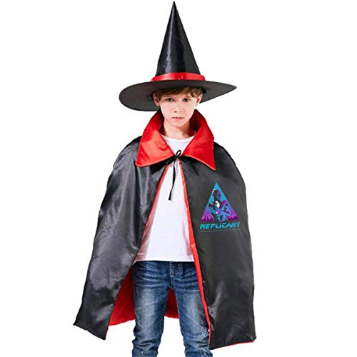 Like Tears in Rain Blade Runner Unisex Kids Hooded Cloak Cape Halloween Party Decoration Role Cosplay Costumes Outwear Red