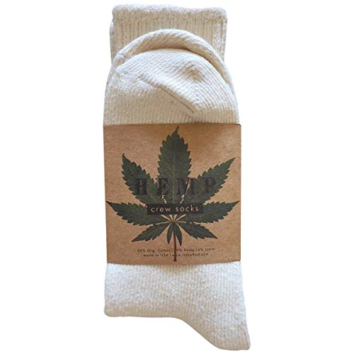 Hemp & Organic Cotton Blend Crew Socks - Unisex