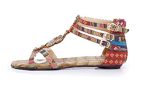 multi colored sandals - 7
