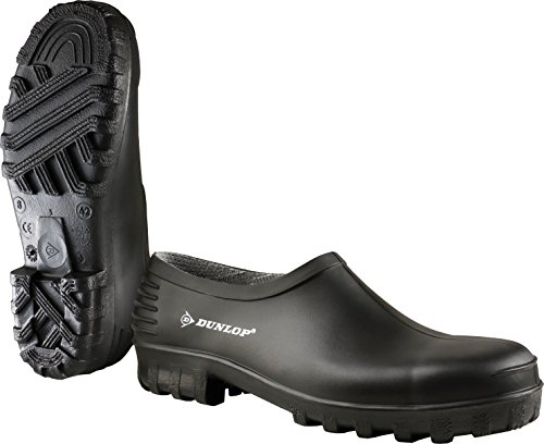 Dunlop Clogs Gartenschuhe Gartenclogs 814P schwarz PVC, rutschfeste Sohle