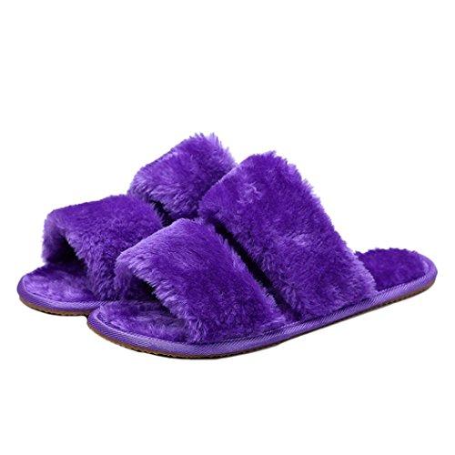 f73e90de5ec ... Fur Flat Slipper Flip Flop Sandal. durable modeling Flats Shoes