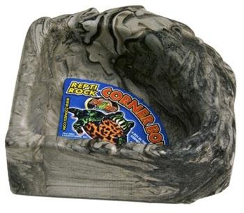 (Zoo Med KB-40 Reptile Rock Corner Water Dish Large)
