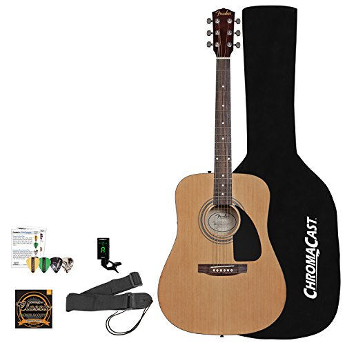 squier-by-fender-acoustic-guitar-bundle-with-strings-strap-tuner-chromacast-guitar-bag-pitch-pipe-le