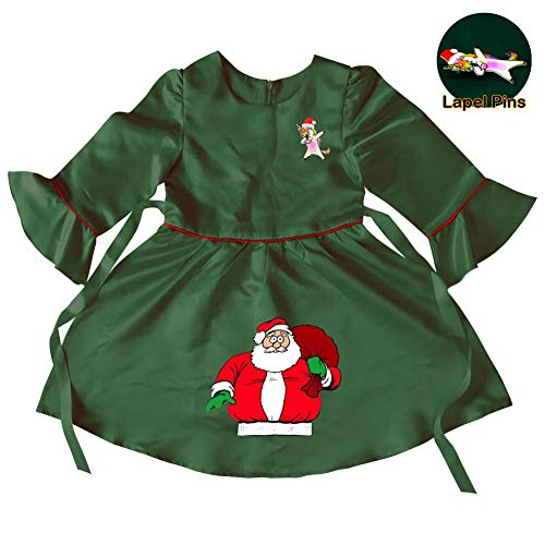Baby Girls Santa Claus Princess Christmas Dress up for Toddler Party Fancy/Formal Costume Gowns 3-4 Years