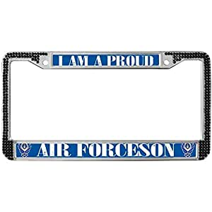 Amazon Com Bling Black Rhinestone License Plate Frame For