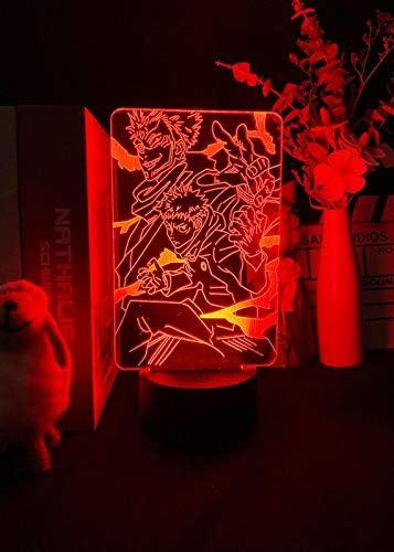 3D Light Anime Jujutsu Kaisen Figuur Led Night for Slaapkamer Decro Kleur Verandering Anime Lamp Cool Geschenken voor Kids Jongens