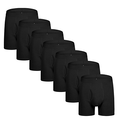 Natural Feelings Boxer Briefs Mens Underwear Men Pack Soft Cotton Open Fly Underwear ()