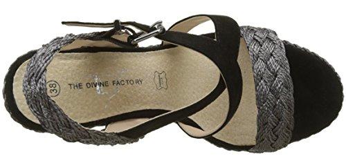 Factory Célestina Sandali Donna Divine noir The Nero q5vwnEac1