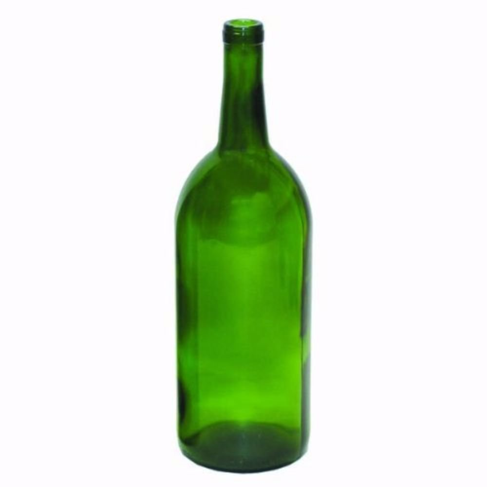 1.5 Liter Emerald Green Claret/Bordeaux Bottles, 6 per case
