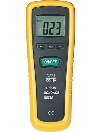 Crane Meters CO-180 Carbon Monoxide Concentration Meter, Tester, and Inspector for Industrial and Commercial use