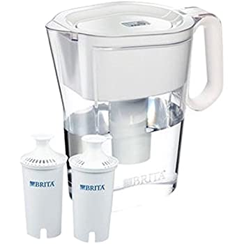 Brita Wave 10 Cup Water Pitcher Plus 2 Advance Filters, Assorted Colors