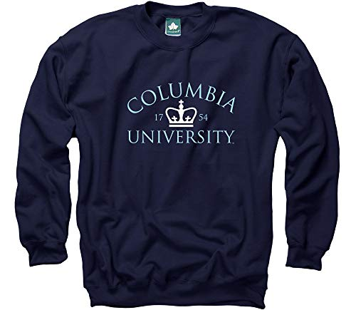 (Ivysport Columbia University Classic Adult Crewneck Sweatshirt with Crown Logo, Sweatshirt and 90% Cotton 10% Polyester)