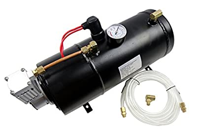 SUNDELY® 12V 3 Liters Air Compressor Pump Tank Kit for Vehicle Car Truck Horn 150 PSI with Built-in Auto Pressure Switch