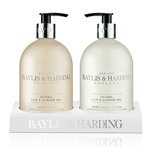 Baylis & Harding Jojoba, Silk and Almond Oil Hand Wash & Hand Lotion Gift - Silk Soap Set