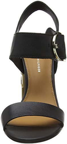 Cheville Hilfiger Noir Bride Heel Femme Oversized Tommy 990 Black Sandales Feminine Buckle UgUw0