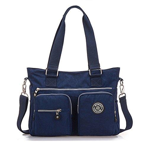 Tiny Chou Multipurpose resistente al agua Premium Bolsa de nylon bolso Cruz Cuerpo Bolsa De Hombro Para Mujer Azul - azul marino