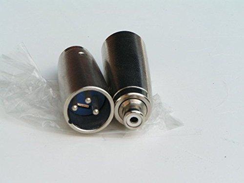 2 Stück Adapter XLR Male auf Chinch Female unsymmetrisch noname 4260341172323
