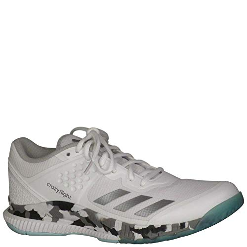 newest 189d0 7342e adidas Womens Crazyflight Bounce W Volleyball Shoe, WhiteNight  MetallicGrey Two, 8.5 Medium US