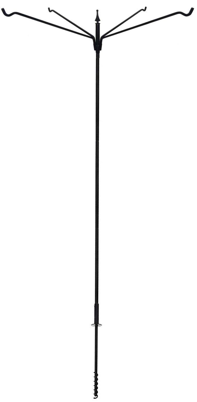 Heavy Duty 80'' 4 Arm Bird Feeder Pole Set w/ Twist in Ground Socket