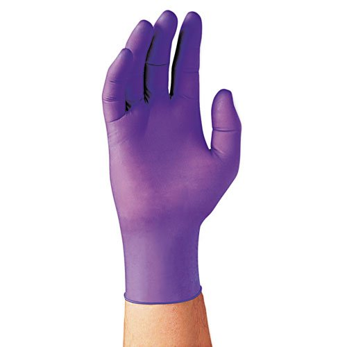 Halyard Health 55083 PURPLE NITRILE Exam Gloves, Large, Purple, 100/Box