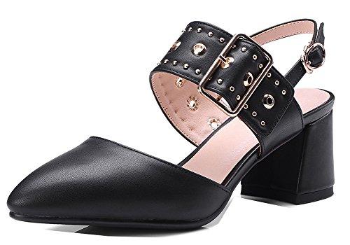 Basse Boucle Femme Sangles Noir Aisun Mode Sur Le Escarpins Dos RPBw6