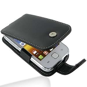 Funda Cuero Samsung Galaxy Y GT-S5360 PDair - Flip Type Negra