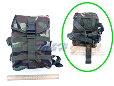 Gas Mask Model: Molle Tactical Drop Leg Gas Mask Pouch Pocket Bag Thigh Utility Carrier Woodland by Generic :: Gas Mask Bag :: Army Gas Masks :: Best Gas Mask