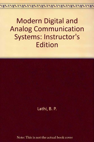 Modern Digital and Analog Communication Systems: Instructor's Edition