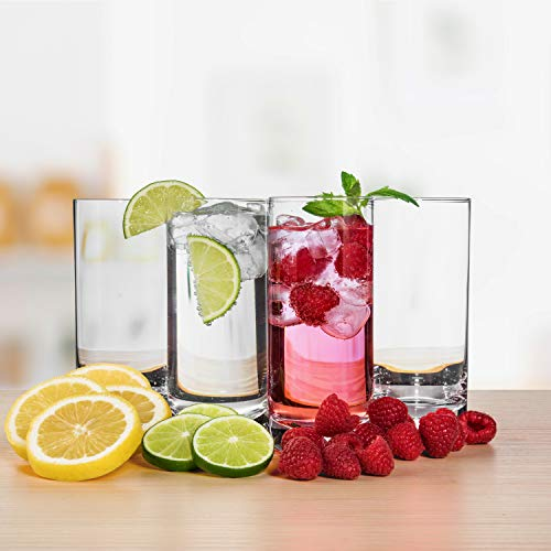 JoyJolt Stella Lead Free Crystal Highball Glass 14.2-Ounce Barware Collins Tumbler Drinking Glasses For Water, Juice, Beer, And Cocktail Set Of 4 by JoyJolt (Image #5)