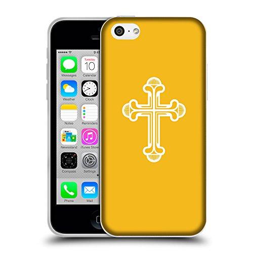 GoGoMobile Coque de Protection TPU Silicone Case pour // Q09380602 Croix chrétienne 48 ambre // Apple iPhone 5C