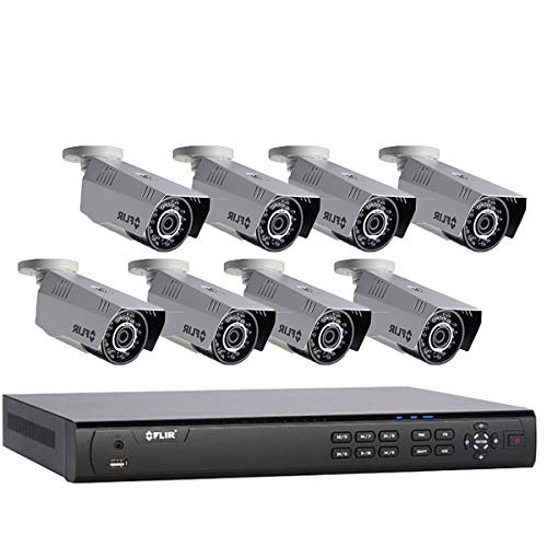 Flir 720p Outdoor Home Security Camera System 8 Channel 1080p Wired Dvr 8 Hd 720p Bullet Surveillance Cameras Night Vision Motion Detection 8 Cameras Without 60ft Bnc Cable No Hdd