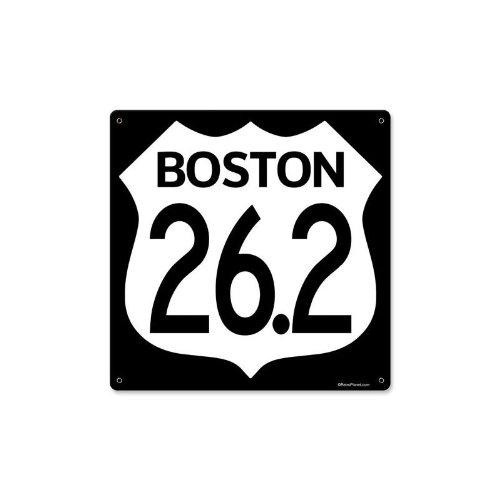 Marathon Boston 26.2 Miles Vintage Metal Sign Run Running 12 X 12 Steel Not - Running Boston Stores