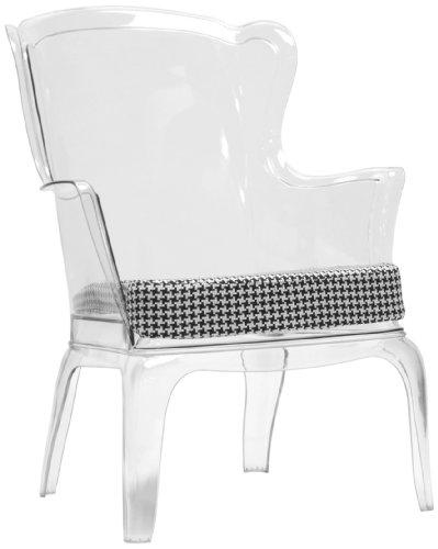 Baxton Studio Tasha Polycarbonate Modern Accent Chair, Clear