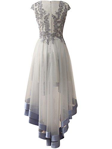 Brautjungfernkleider Traube Damen Festkleider Applikationen Tüll Hochzeitskleider Lang Abendkleider Ballkleider wrT8xrqI