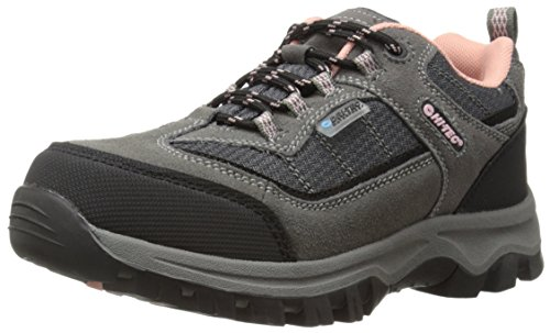 Hi-Tec Hillside Low Waterproof JR Hiking Shoe ,Charcoal/Blus