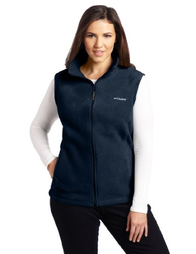 (Columbia Women's Plus Size Benton Springs Vest, Navy, 3X)