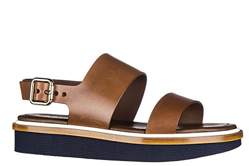 Tod's sandales femme en cuir 23a fasce marron