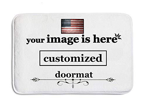 aguopeng Customized Design Doormat Door Mat Entrance Mat Floor Mat Rug Front Door/Indoor/Outdoor/Bathroom/Kitchen Mats Non Slip Backing Machine Washable Carpet (15.7