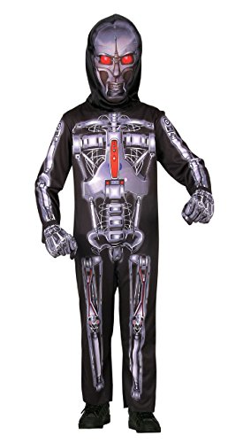 [SEASONS DIRECT Halloween Costume Boy's Robot with Mask,gloves and Jumpsuit (8-10 US)] (Boy Robot Costume)