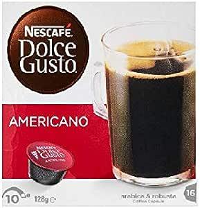 NESCAFÉ Dolce Gusto Americano Rich Aroma Coffee Pods, 16 Capsules (16 Serves) 128g