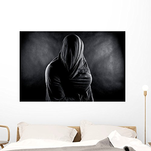 Ghost Dark Wall Mural by Wallmonkeys Peel and Stick Graphic (48 in W x 32 in H) WM365456 by Wallmonkeys Wall Decals