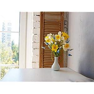 narcissus bouquet, artifiacial flowers bouquet, narcissus centerpiece, livingroom centerpiece, cold porcelain bouquet, shabby chic arrangement, shabby chic bouquet 39